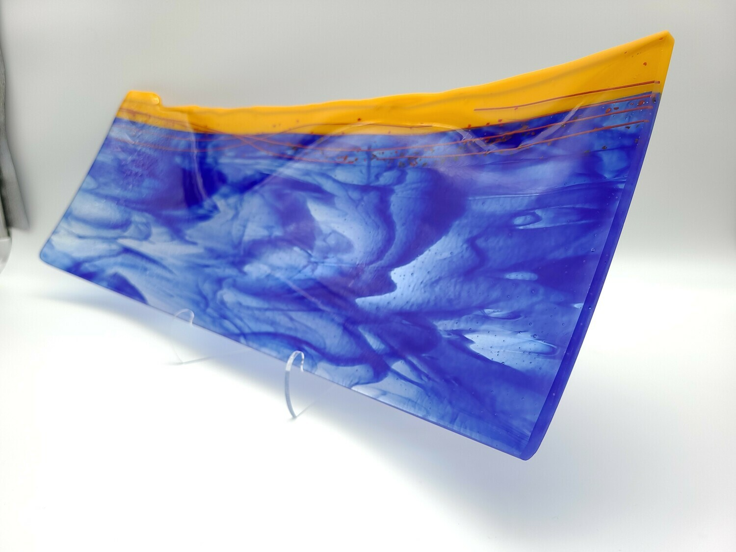 Cobalt and Marigold Rectangle Platter