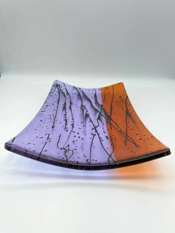 Neo Lavendar and Orange Rectangle Tray