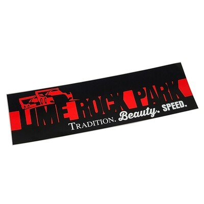 Tradition, Beauty, and Speed Bumper Sticker
