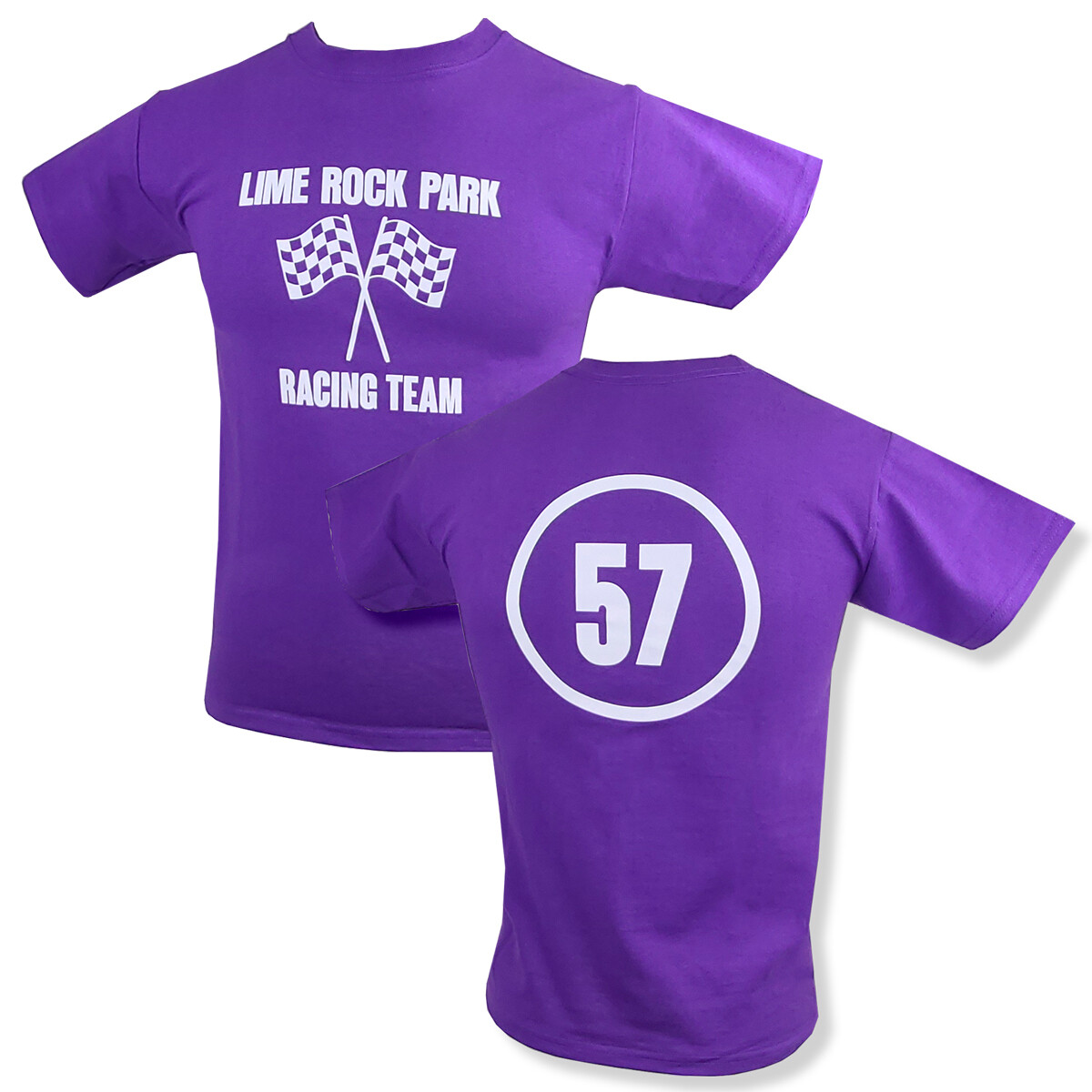 Lime Rock Youth Tee - Bright Purple