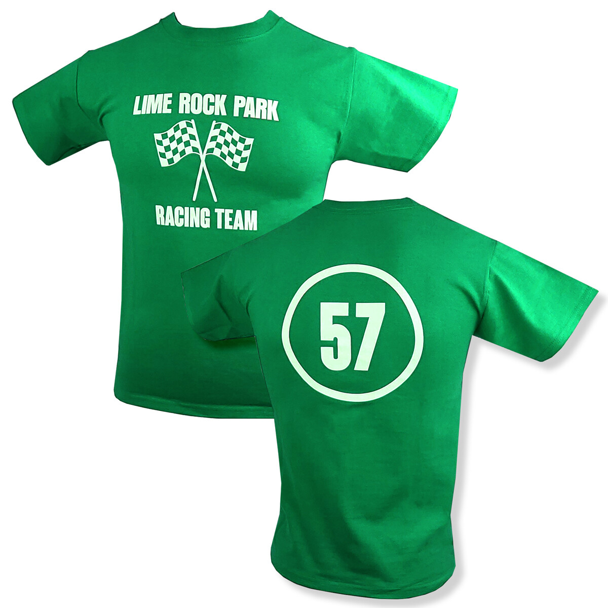 Lime Rock Youth Tee - Kelly Green
