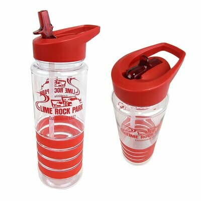 Lime Rock Water Bottle - Red Stripes