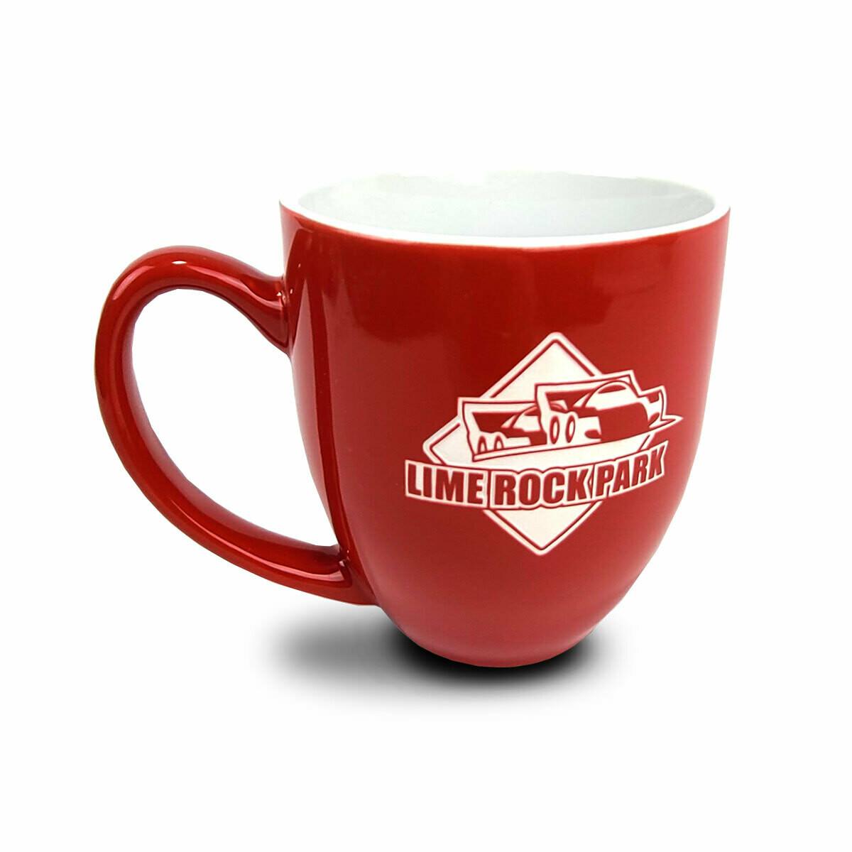 Lime Rock Bristo Coffee Mug - Red/White