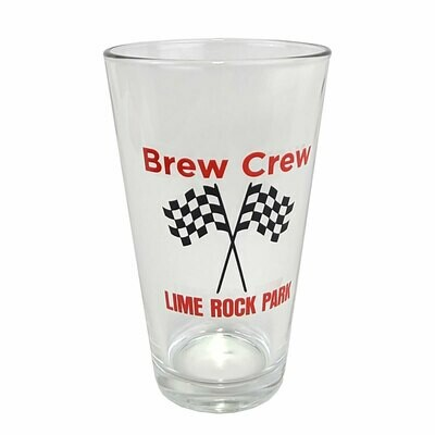 Lime Rock brew Crew Glass - Pint