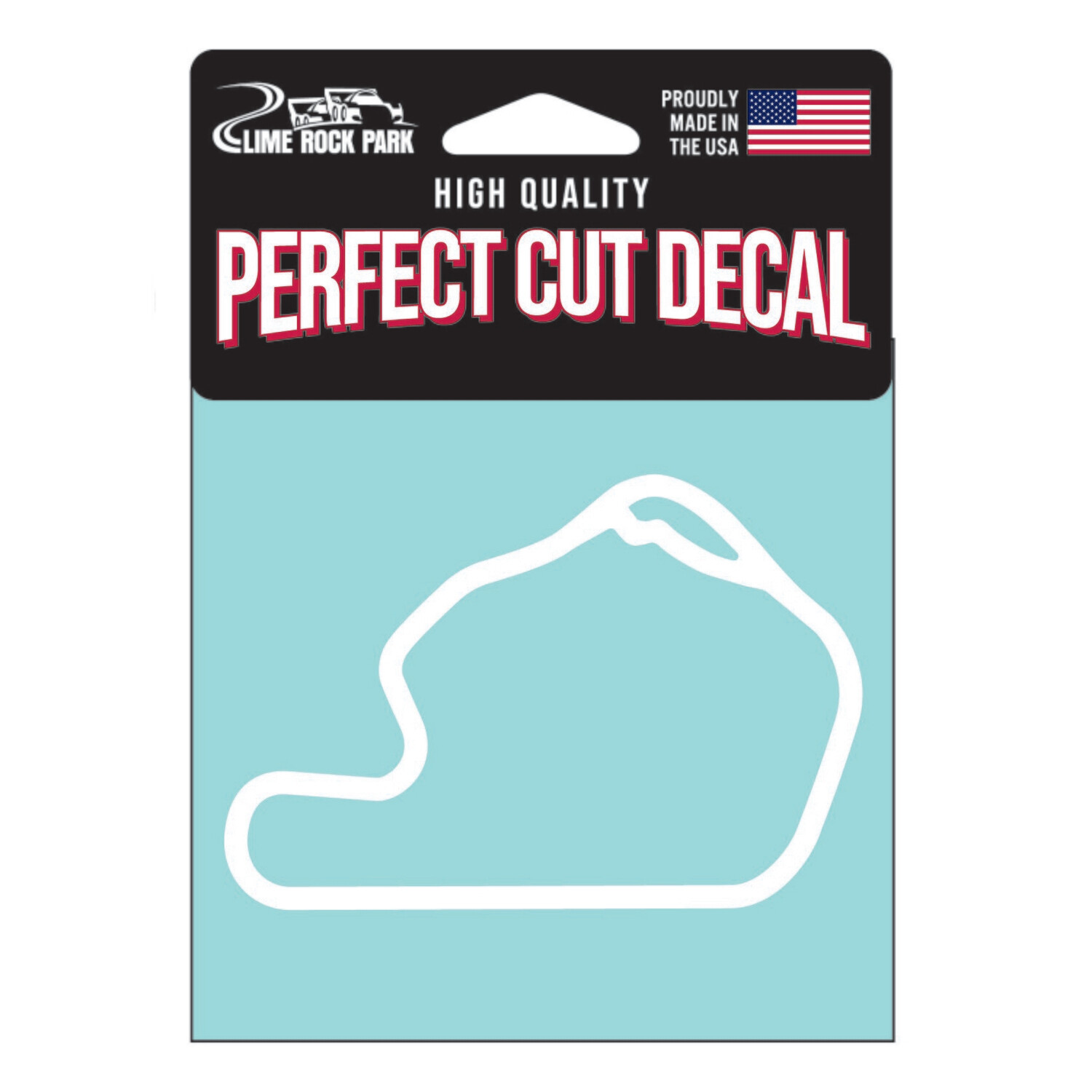 Lime Rock Track Outline - White