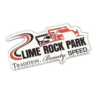 """Lime Rock Magnet - 1/4"""" Thick Acrylic"""