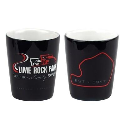 LRP Shot Glass - Black/White