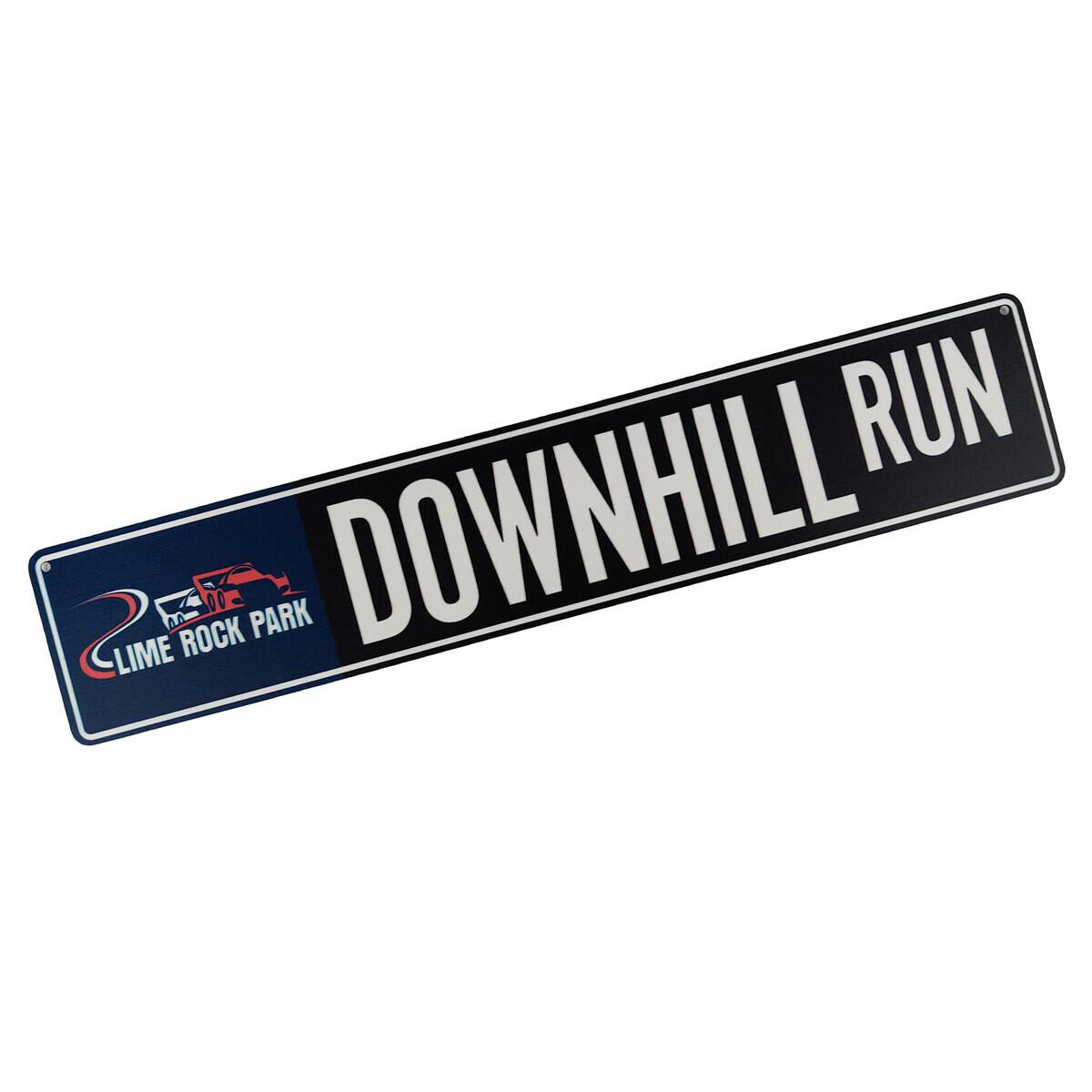 Street Sign - Downhill Run