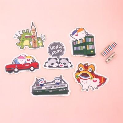 Bulbble Inc. Hong Kong Sticker Set (A set of 6 designs)