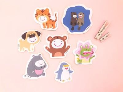 Bulbble Inc. Animals Sticker Set (A set of 7 designs)