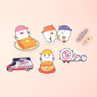 "Bulbble Inc. ""Hong Kong Food"" Sticker Set (A set of 5 designs)"