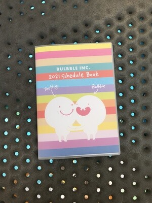 """Bulbble Inc. """"Colors"""" Schedule Book 2021"""