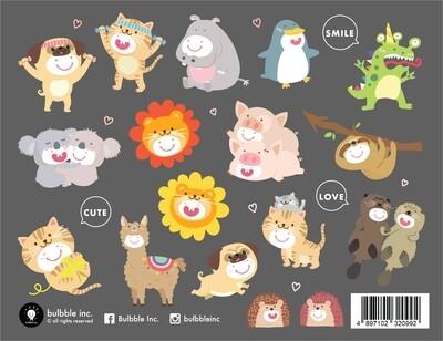 "Bulbble Inc. ""Animals 2021"" Sticker"
