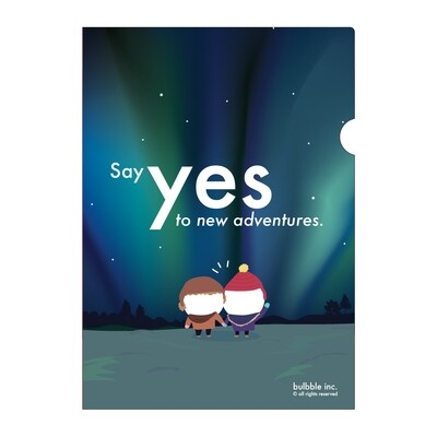 """""""Say Yes to New Adventure"""" A4 Plastic Folder"""