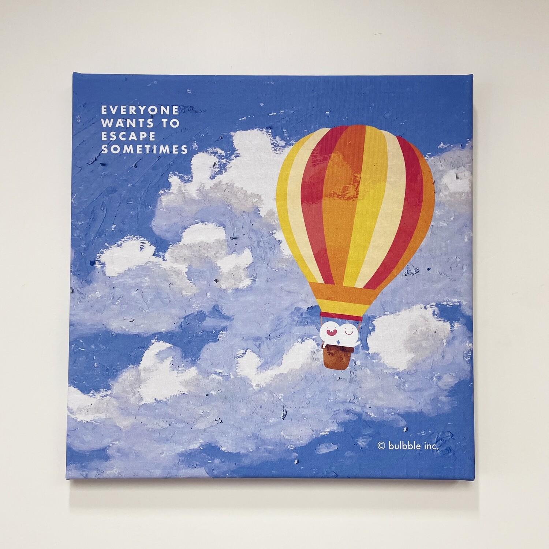"Bulbble Canvas - ""Everyone wants to escape sometimes"""