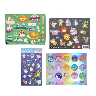 Bulbble Inc. Sticker Combo Set