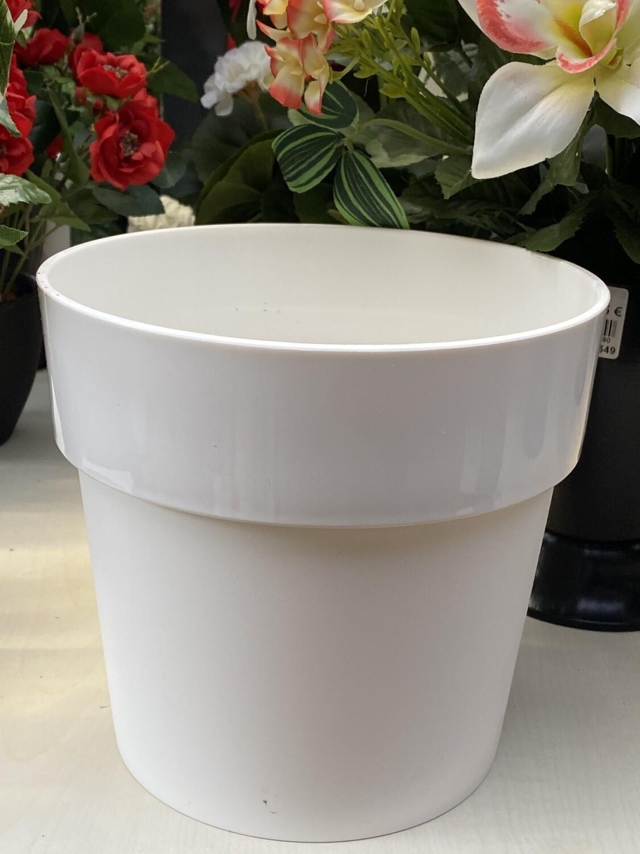 Cache-pot elho blanc D 18 cm