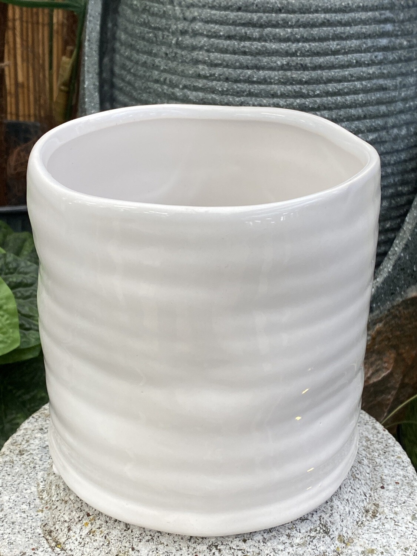 Cache-pot céramique diamètre 13,2 grand H 13,5