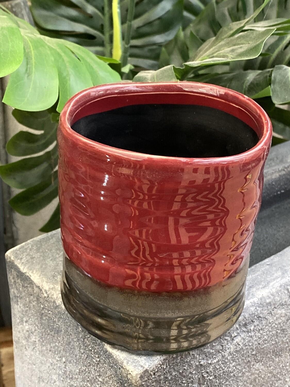 Cache-pot céramique rouge diamètre 11 rouge
