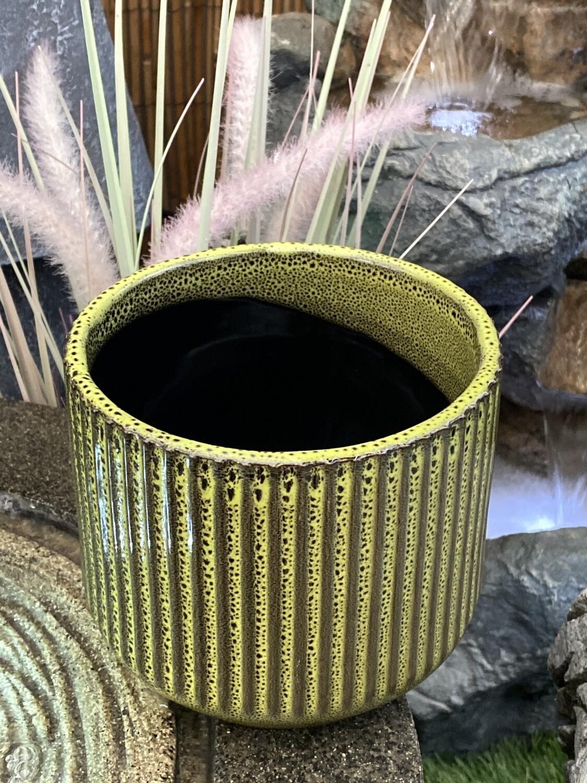 Cache-pot céramique diamètre 13 cm H 11 cm