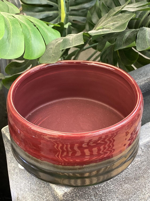 Coupe diamètre 15,5 cm céramique rouge