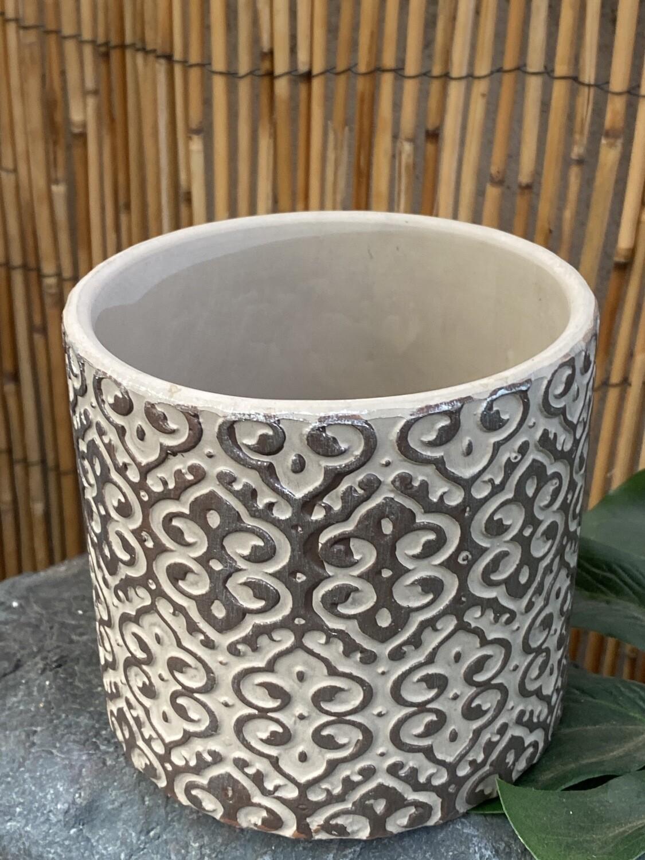 Cache-pot ciment diamètre 12