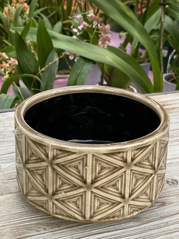 Coupe céramique brun diamètre 13,5 H 7,5 cm