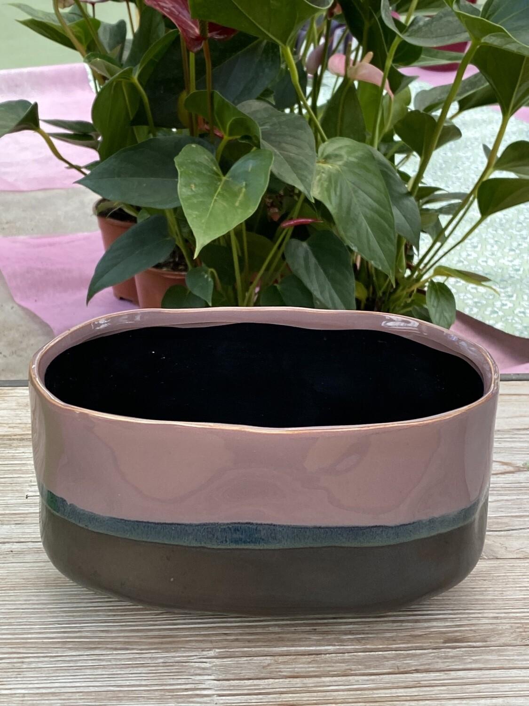 Coupe céramique rose L 20,3