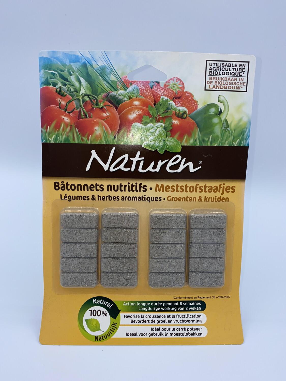 Bâtonnets nutritifs légumes et herbes aromatiques