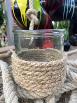 Photophore corde 10x10 cm