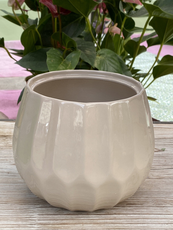 Cache-pot Beige Ø16,6 H 13 cm céramique