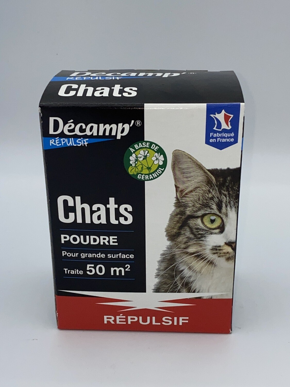 Répulsif pour chat poudre Décamp's