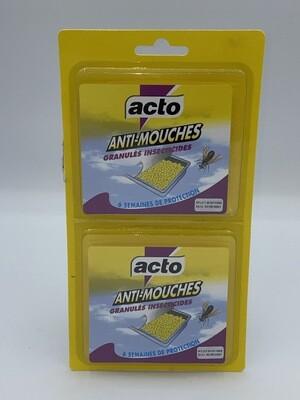 Anti mouches granulés insecticides acto