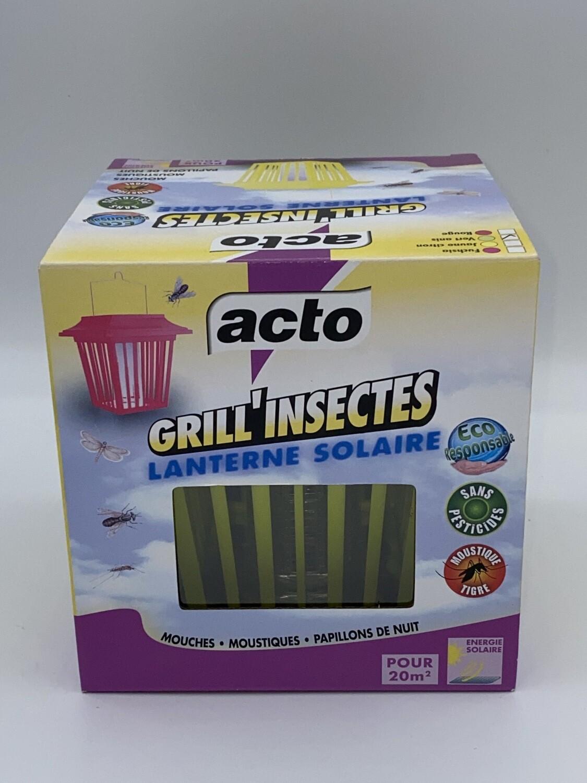 Lanterne solaire anti insectes acto