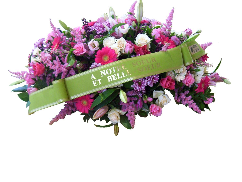 Raquette avec fleur et feuillages