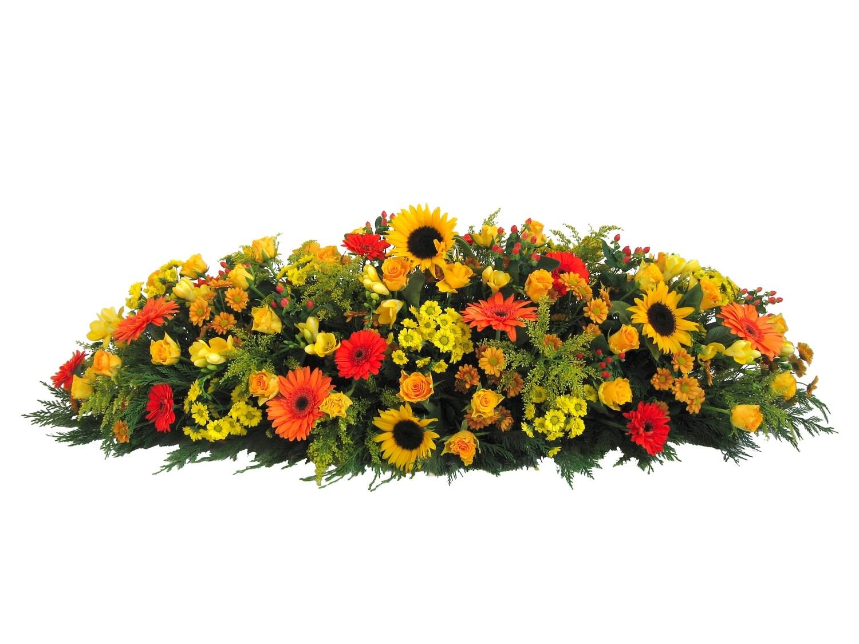 Raquette avec fleurs et feuillages