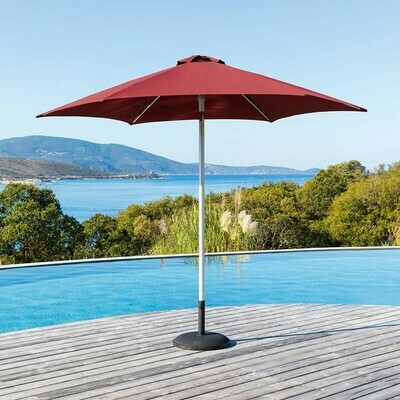 Parasol droit inclinable Pemba