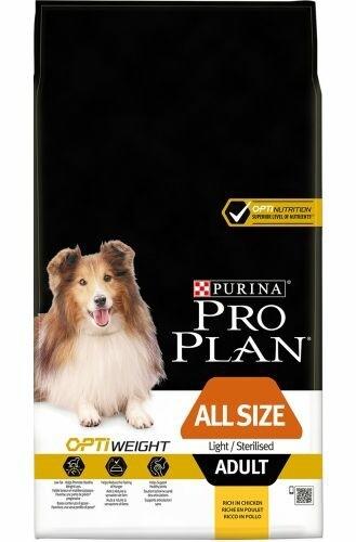 Pro plan all size light/sterilised