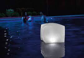 Lampe flottante led cube