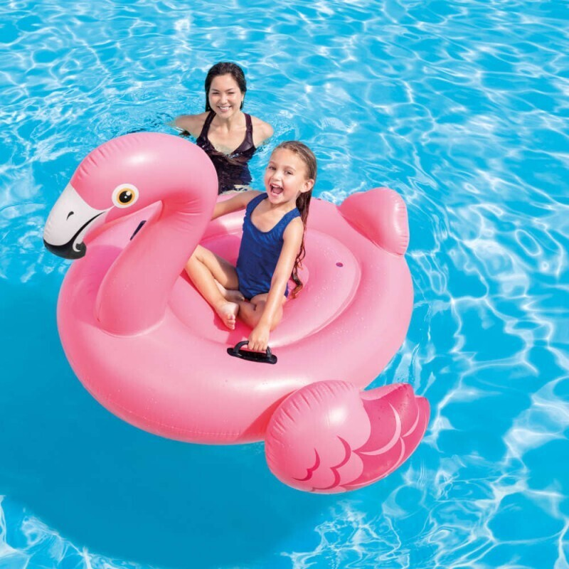 Matelas gonflable flamant rose
