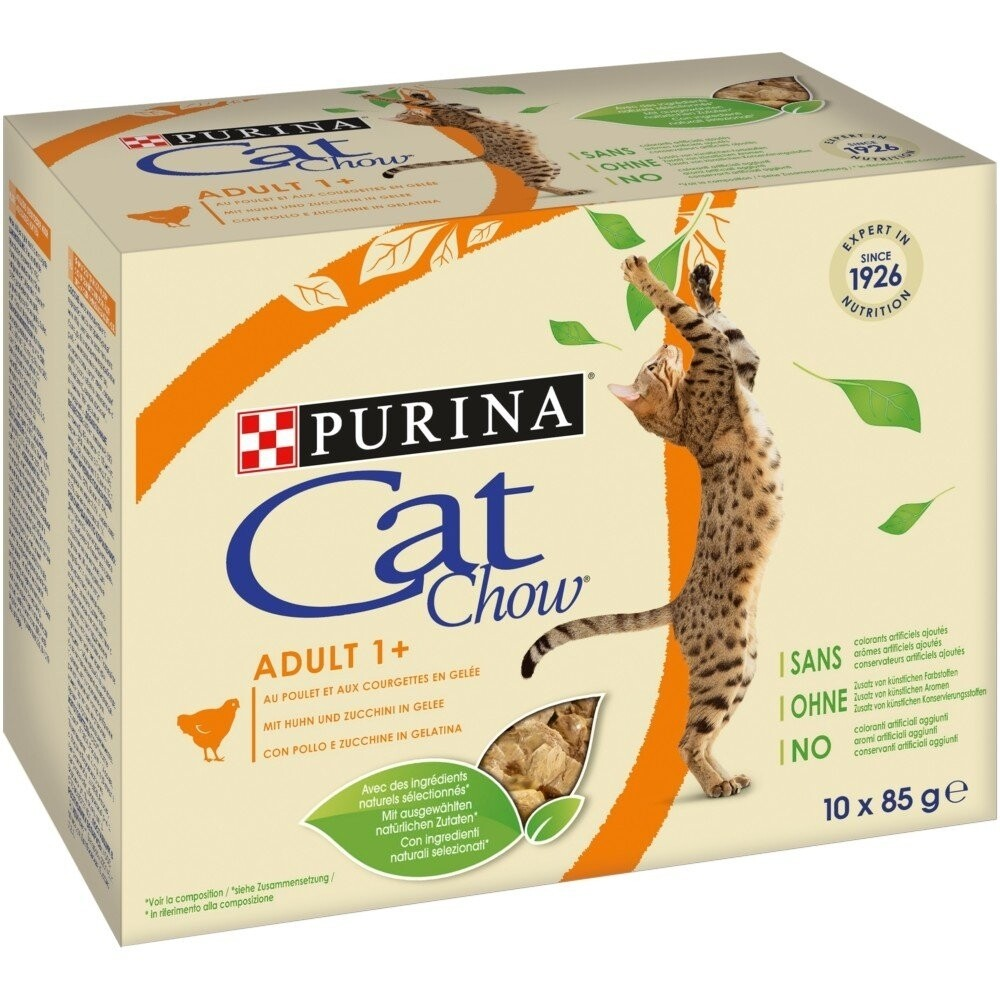 Purina cat chow humide en gelée