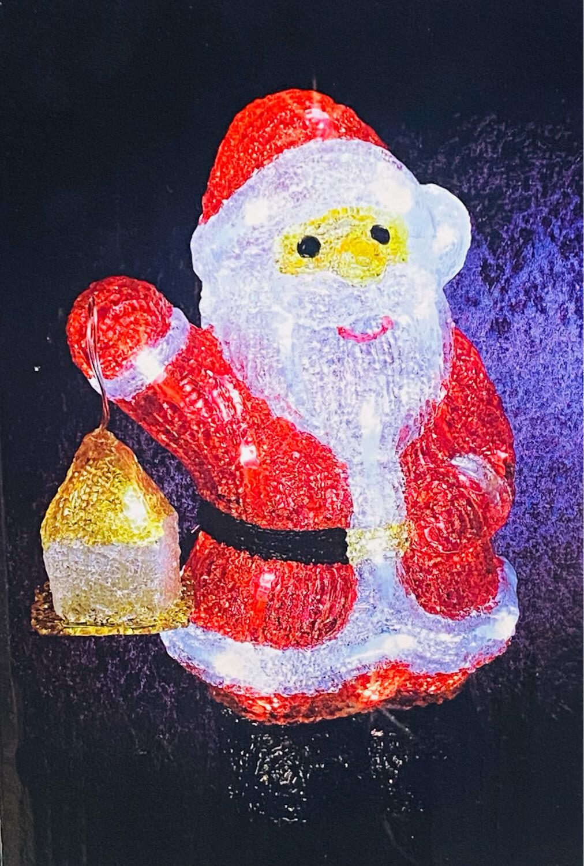 Père Noël acrylique 40 led H30 cm