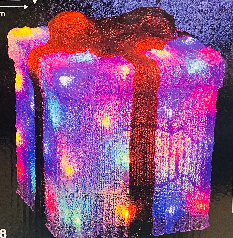 Boîte cadeau lumineuse led extérieur L22 × H27 cm