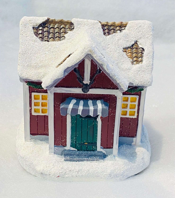 Maison nordique lumineux à piles H11cm
