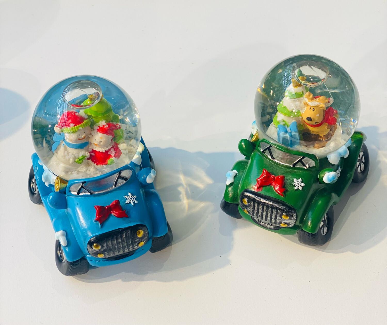 Boule à neige voiture enfant H 9cm