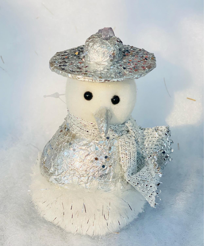 Bonhomme de neige métallisé À suspendre