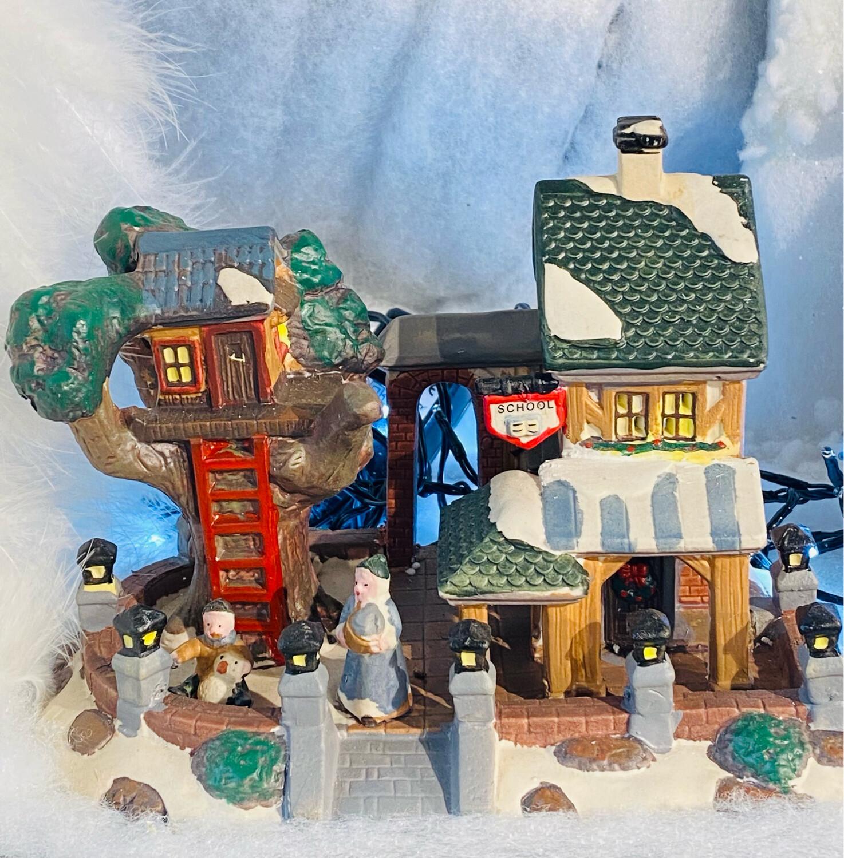 Maison arbre intérieur led Noël