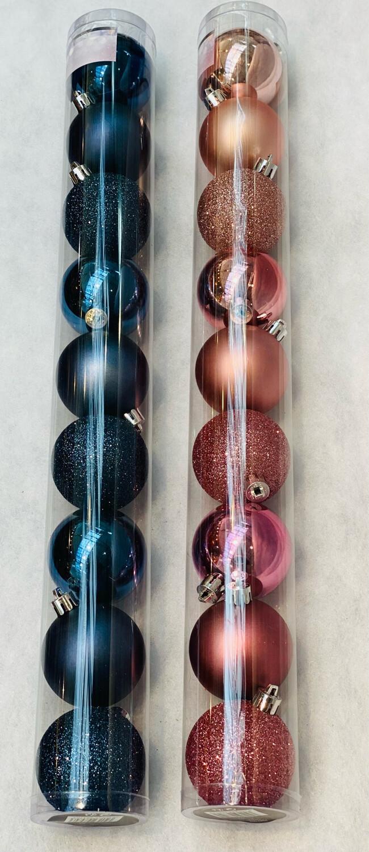 Tube boule de Noël 50 mm x9