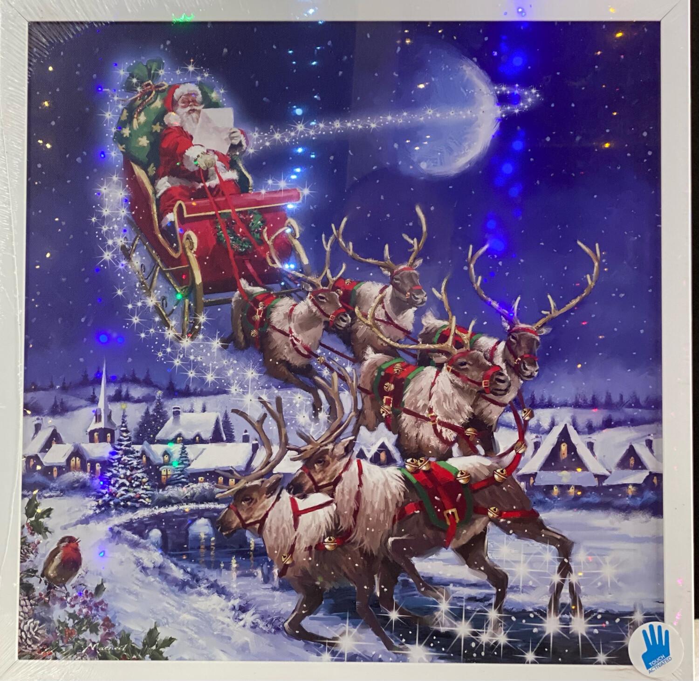 Toile effet flash de Noël à piles
