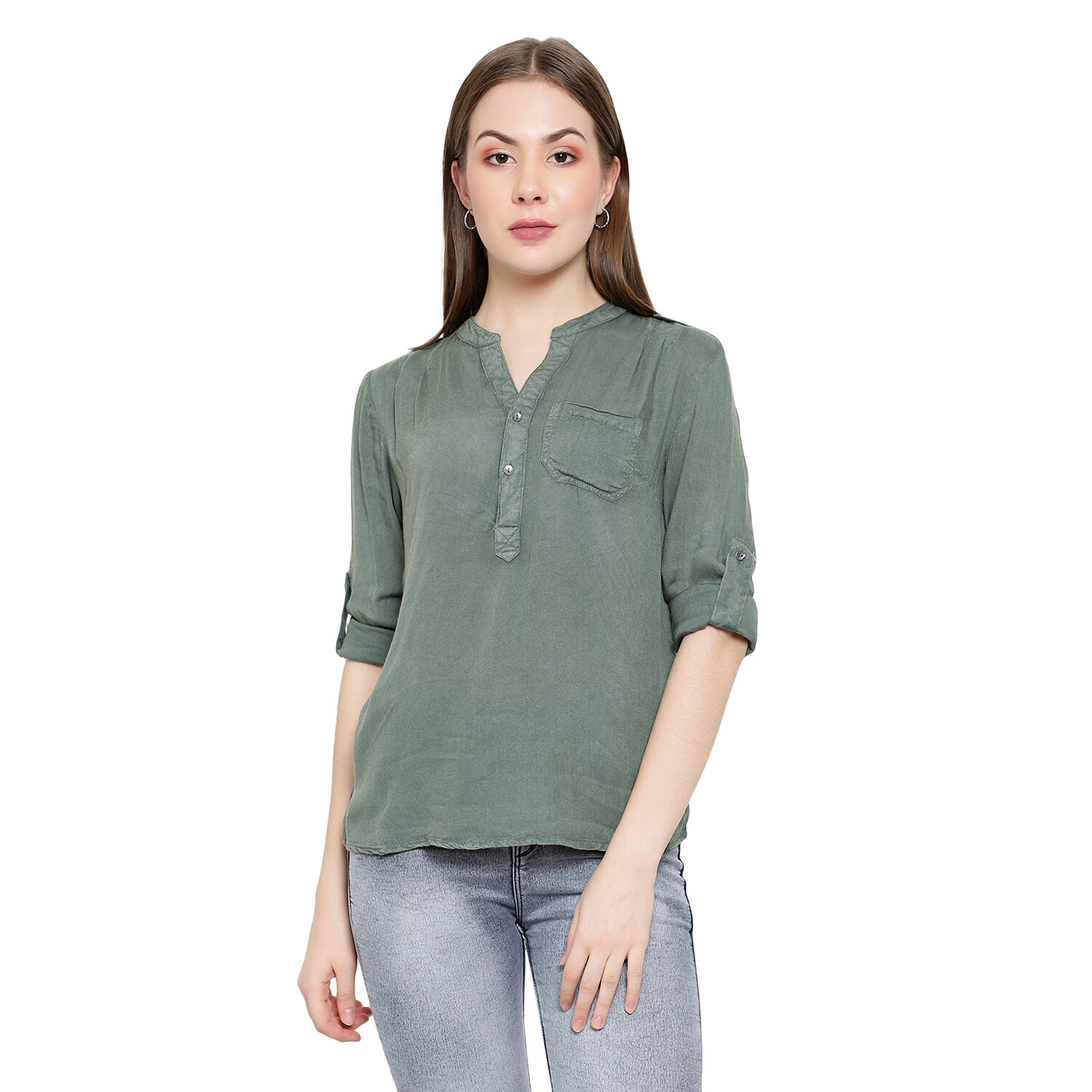 Wash Effects Rayon Top